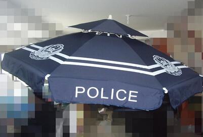 警用双层遮阳伞
